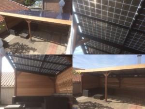 Off grid veranda of serre op zonne energie mobiele for Mobiele woning in de tuin